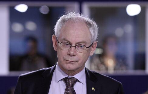 EU President Herman Van Rompuy