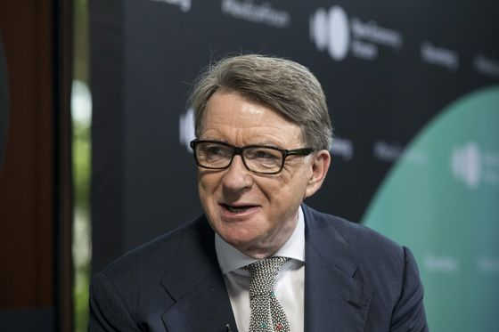 U.K. 'Almost Certain'to End Up With Hard Brexit, Mandelson Says