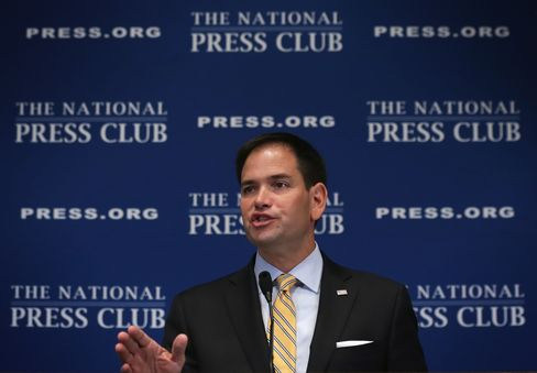 Sen. Marco Rubio Speaks At The National Press Club