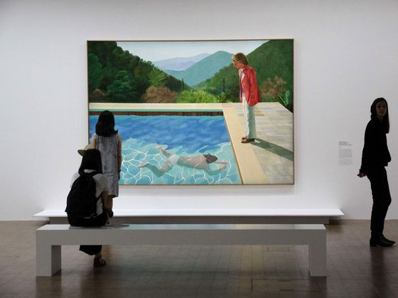 Billionaire Lewis Wins Another Big Bet as Hockney Smashes Record