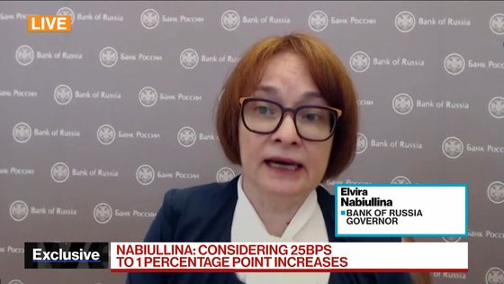 Bank of Russia ConsidersRate Increase of Up to 1 Percentage Point