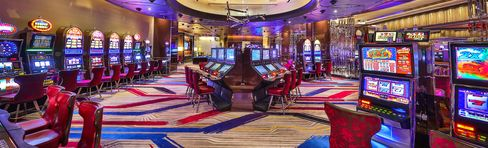 Slot machines at the Cosmopolitan.