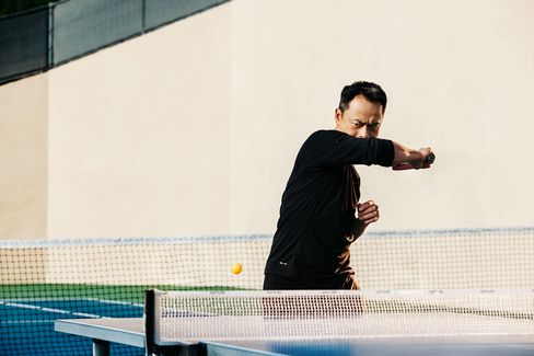 Curtis Macnguyen says table tennis, more than any other sport, gets him in a zone of pure concentration.