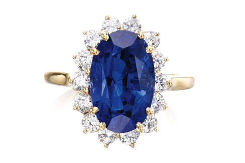 Tiffany Sapphire and Diamond Ring
