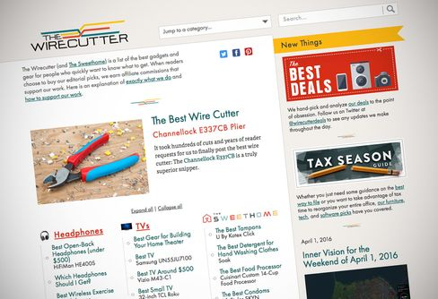 The Wirecutter site.