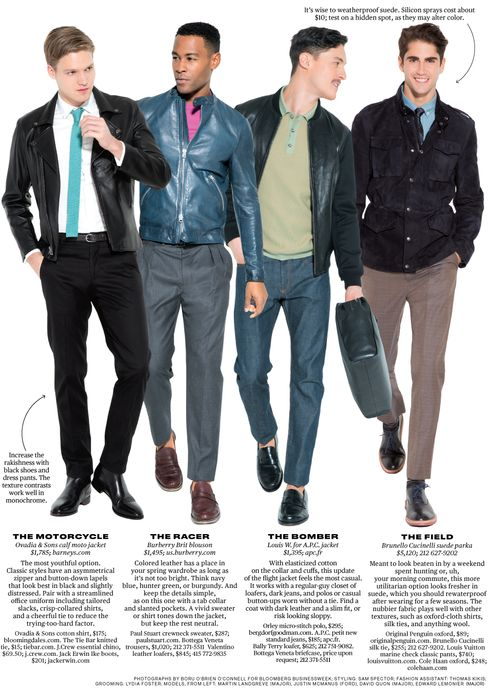 Men's Leather Jackets for Spring