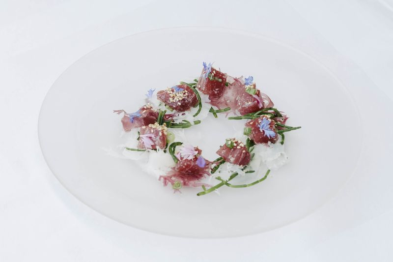 Tuna Crudo Is One Of Many Pricey Appetizers On Offer