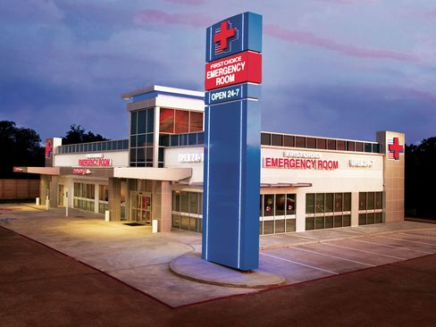 Caption: A First Choice Emergency Room in Deer Park, Texas.