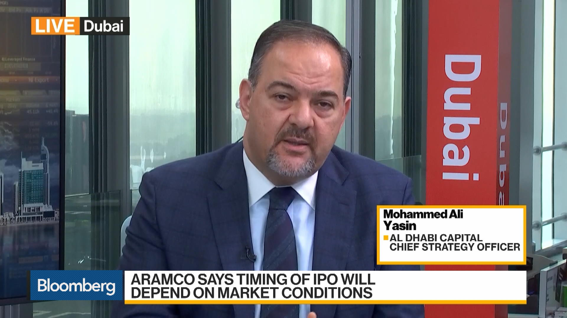 Mohammed Ali Yasin, chief strategy officer at Al Dhabi Capital, on Aramco's Decision to delay IPO