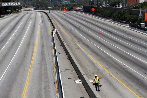 Freeway Closure Promises Sales at Gridlock-Survival Services
