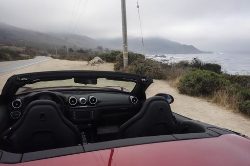 A road like Highway 1 through Big Sur is perfect for testing the refined handling of the Ferrari California T HS.