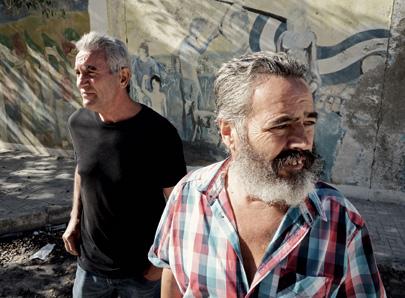 Diego Cañamero (left) and Juan Manuel Sánchez Gordillo in Marinaleda