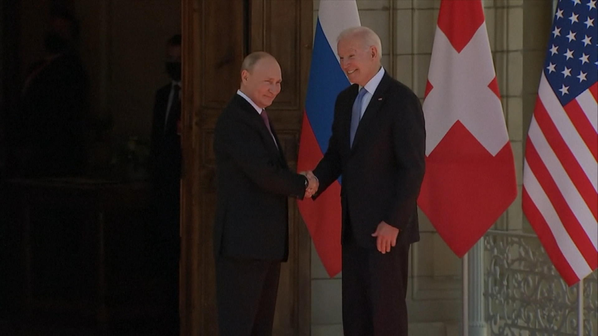 Biden, Putin Shake Hands Ahead of Swiss Summit