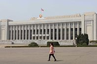 The Mansudae Assembly Hall in Pyongyang.