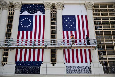 20日の大統領就任式の準備が進む首都ワシントン