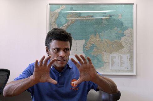 Leader Of Voluntad Popular Leopoldo Lopez