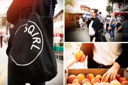 Koslow shops for fruit at the Santa Monica farmer's market.