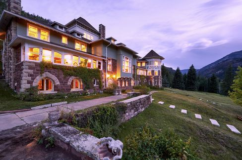 Redstone Castle in Roaring Fork Valley, another property offered by Platinum Luxury Auctions. It was previously on the market for $7.5 million and now has a reserve of $2 million.