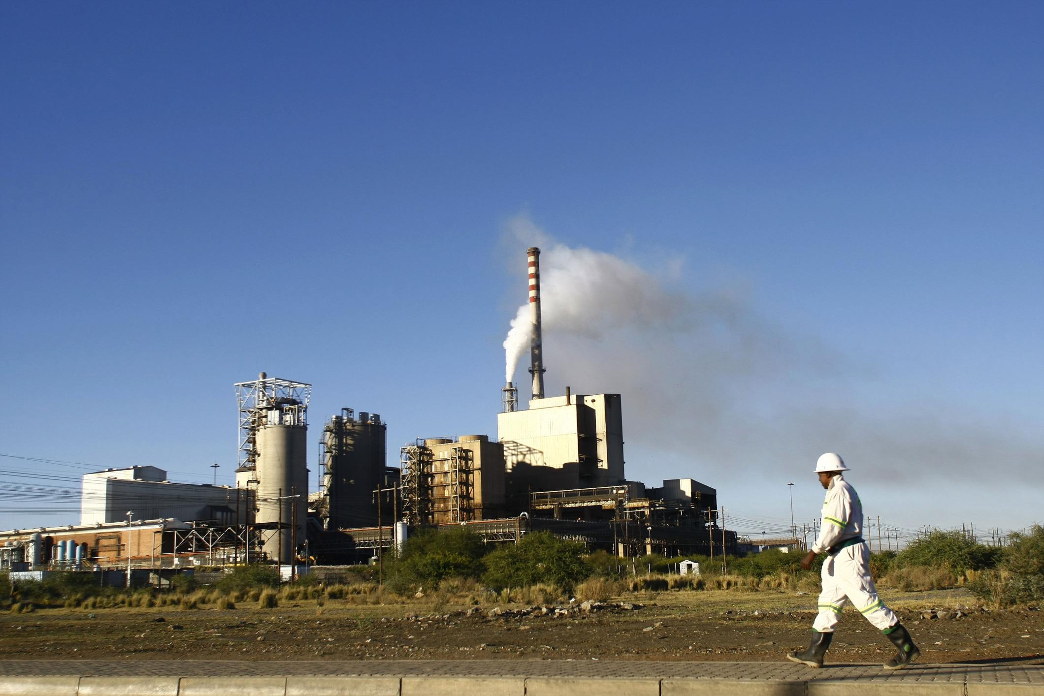 Sibanye's Marikana mine in Marikana, South Africa.