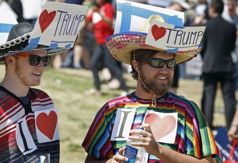 Trump supporters on March 19 in Fountain Hills, Arizona.
