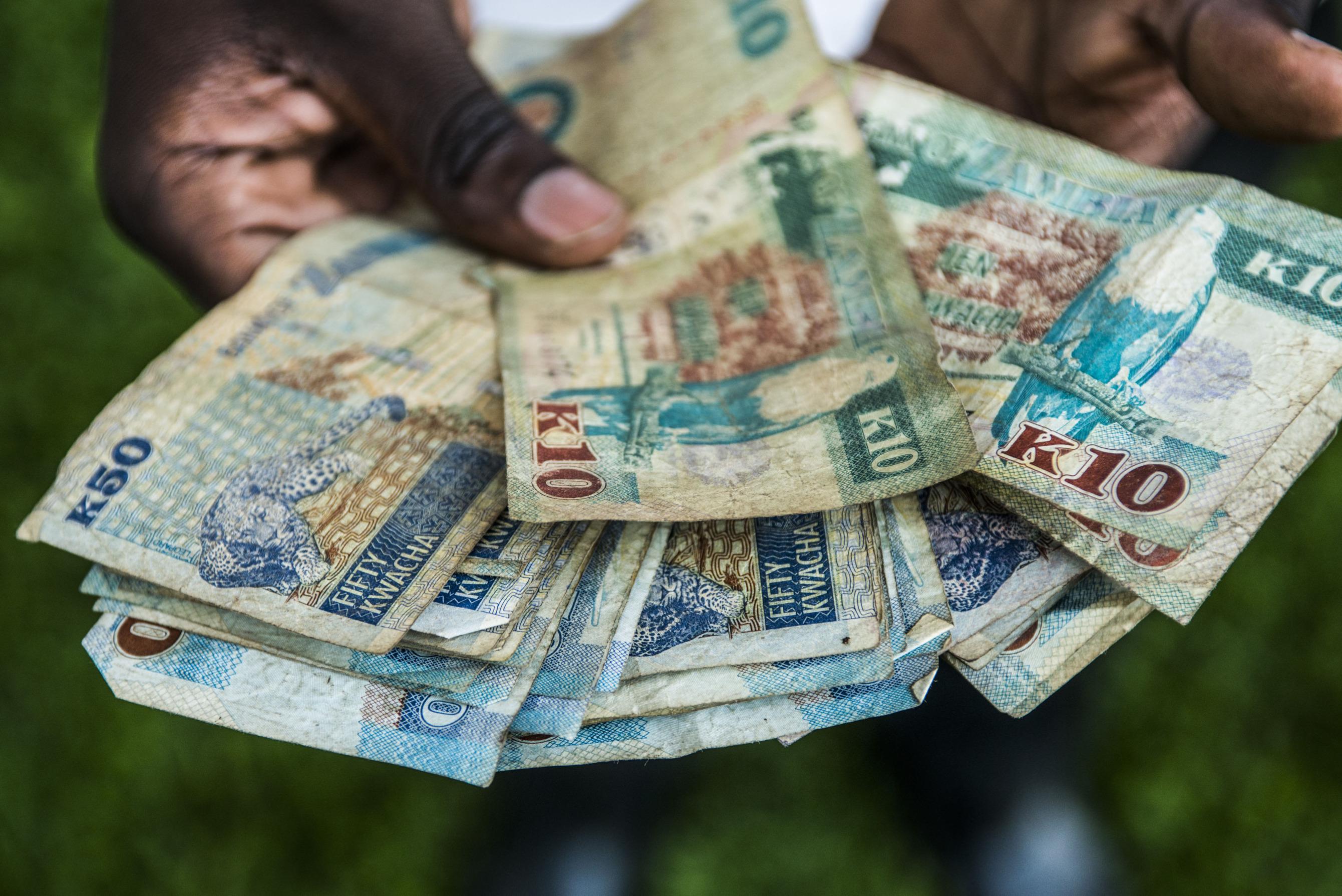 Zambia S Kwacha Zmw Falls Most In