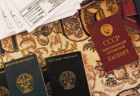Leonard collects expired passports from visitors