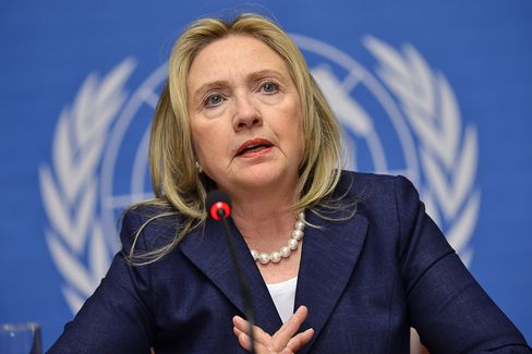 U.S. Secretary of State Hillary Clinton in Geneva