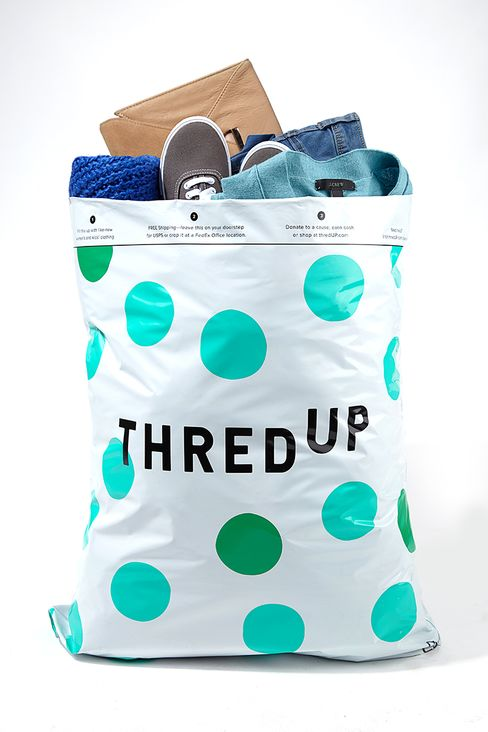 ThredUp's signature bags, used to send in clothes from your closet.