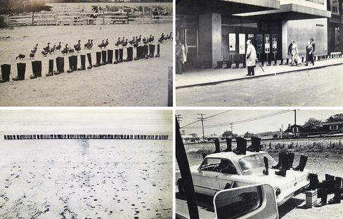 100 Boots, by Eleanor Antin.