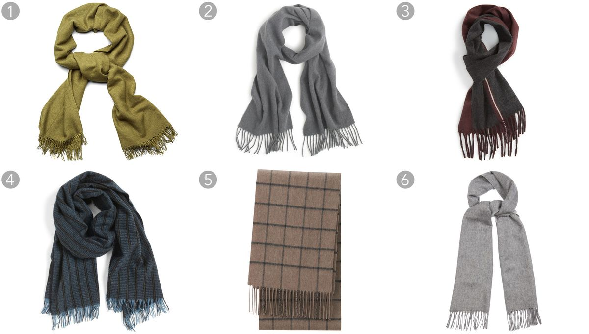 relates to Sixty Scarves for Men and Women to Get You Through Winter 2015.  (1) Olive cashmere scarf, Bottega Veneta ... 02355f1750