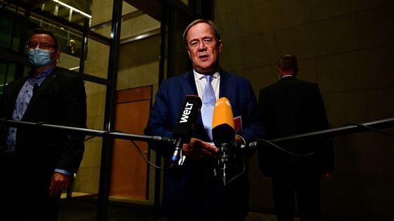 Laschet's Grip on Merkel Bloc Slips in German Poll Backlash