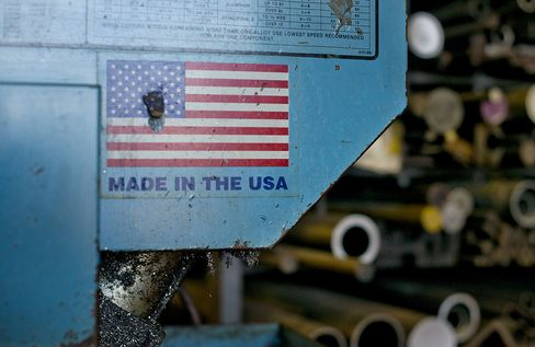 U.S. Manufacturing Probably Grew at Slowest Pace in Eight Months