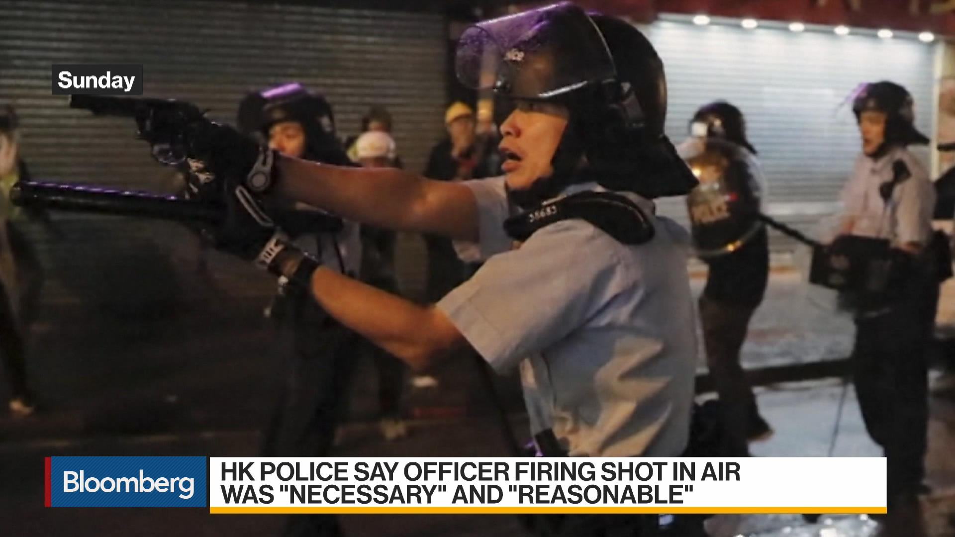 Tensions in Hong Kong Escalate; Police Fire Weapon
