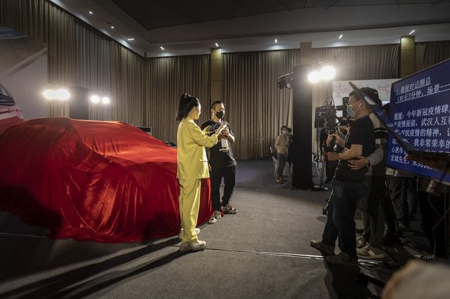 Viya hosted an event promoting the city of Wuhan's specialty products in an effort to help the economic recovery after the coronavirus lockdown, at a venue provided by the Dongfeng Motor Company on April 30, 2020.