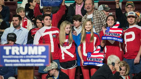 Donald Trump called on the television cameras to pan around and show crowd size, and they did.