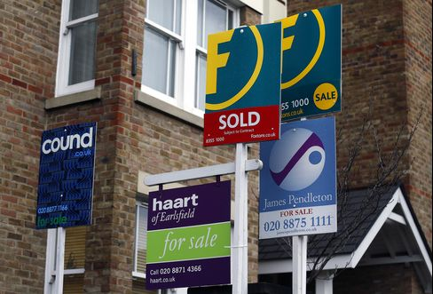 U.K. House-Price Growth Slowed in July on Property Supply Pickup