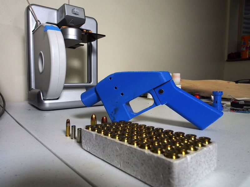 yes anyone can print a gun at home but not a very good one