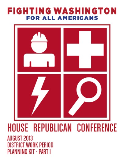 Click the cover image to read the full 31-page playbook for Republican lawmakers on summer recess.