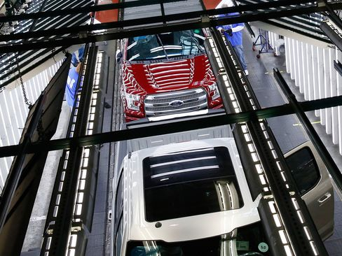 To churn out an extra 40,000 vehicles, Ford is cutting the second half of a planned two-week break that starts June 29, according to an e-mailed statement. The change affects six assembly plants and 10 parts factories for models such as the Explorer, Edge and Escape SUVs, as well as the F-150, Ford's top seller and biggest moneymaker.