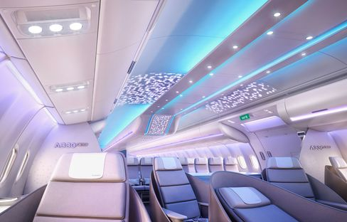 Airbus' new cabin interior for the A330neo.