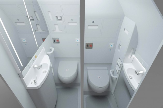 Airbus Thinks Airplane Bathrooms Take Up Too Much Space - Bloomberg