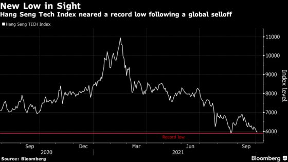 Asian Tech Rout Worsens as China Index Closes Near Record Low