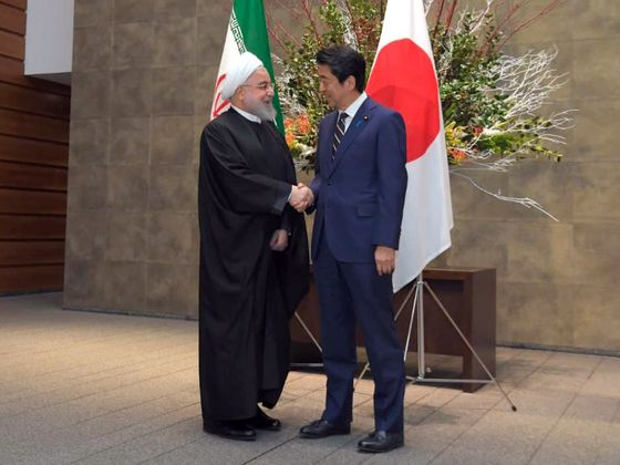 Rouhani Visits Japan as U.S. Seeks to Cut Off Iran's Exports