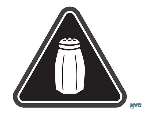 New York's high salt content warning sign.