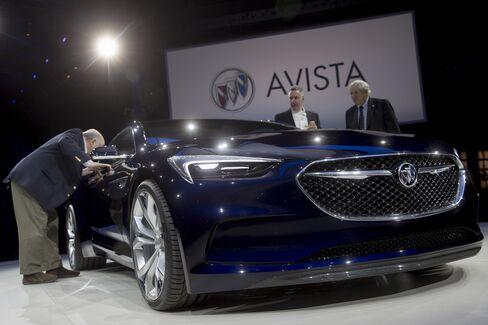 A General Motors Co. Buick Avista concept vehicle.