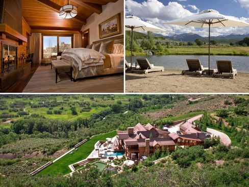 An $18 million, five bedroom home in Red Mountain, Colo.