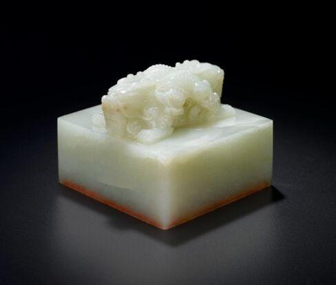 Qianlong era white jade seal