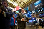 Trading On The Floor Of The NYSE AS Dollar Advances