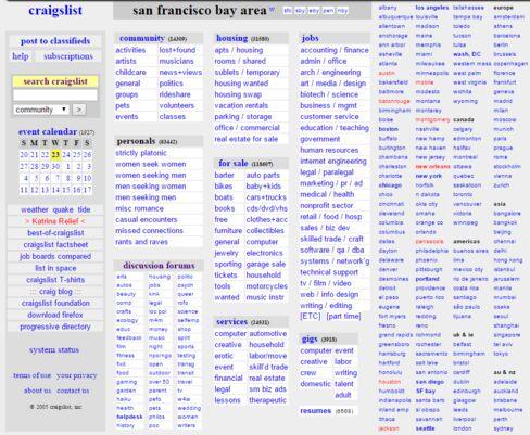 Craigslist in 2005