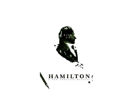 The green ink-stained Hamilton